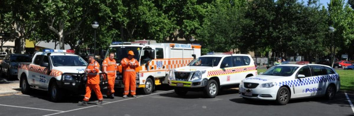 Emergency Services Staff and Vehicles