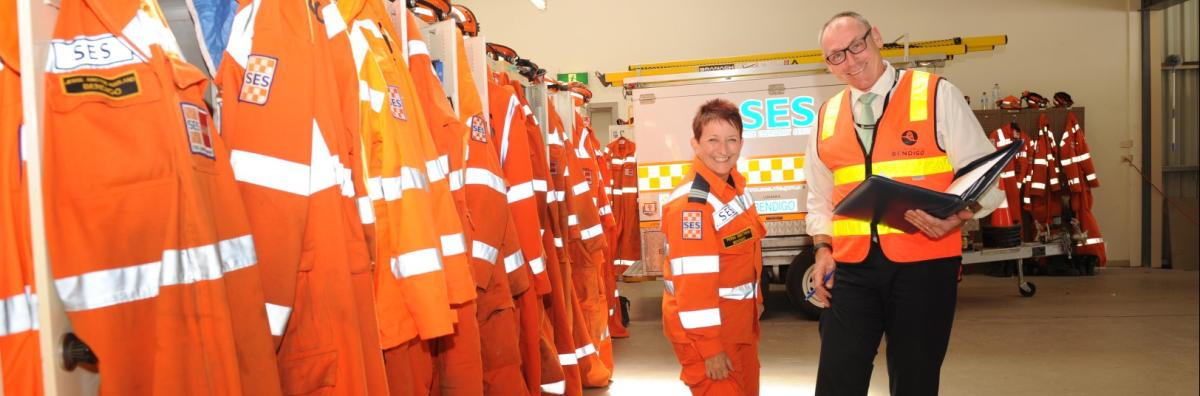 Emergency services staff at station
