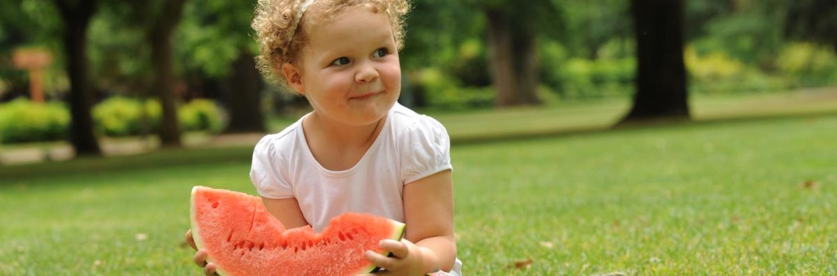 Girl Holding Watermelon in Rosalind Park