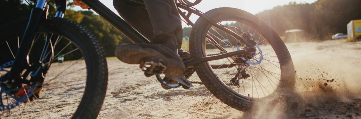 BMX bike in dust