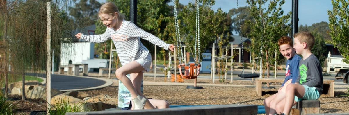 Children playing at Strathfieldsaye Recreation Reserve