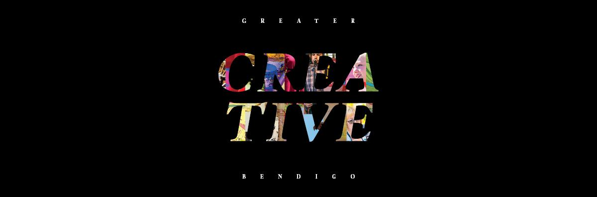 Graphic featuring the words Greater Creative Bendigo