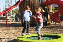 Kids on Trampoline at Heathcote Play Space