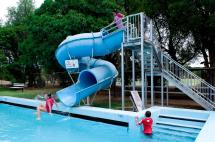 Waterslide at Elmore Swimming Pool
