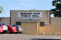 The East Bendigo Progress Hall, located next door to the Bendigo East Pool.