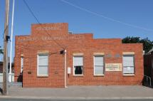 The Goornong Memorial Hall is a tall brick building located on the main street through Goornong.
